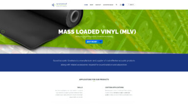 Sound Acoustic Solutions Website Home Page